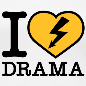 i love drama T-Shirts - Premium T-skjorte for kvinner
