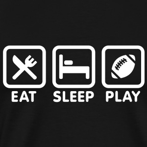 Eat Sleep Play Rugby / Football T-Shirts - Men's Premium T-Shirt