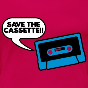 Save The Cassette T-shirts - Vrouwen Premium T-shirt