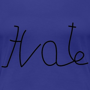 Love / Hate (spiegelbeeld / mirror image) T-shirts - Vrouwen Premium T-shirt