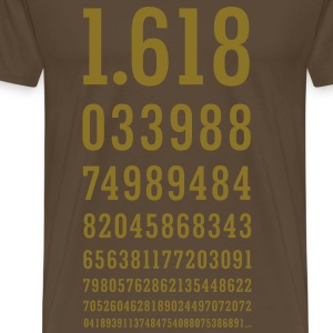 Golden Ratio Number - PHI - Golden Section T-Shirts - Men's Premium T-Shirt