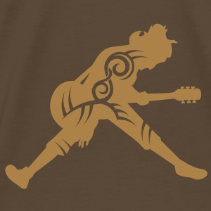 Guitar player tribal - Men's Premium T-Shirt