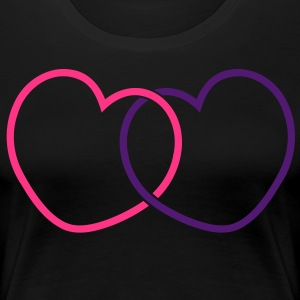 Heart Together Love T-Shirts - Women's Premium T-Shirt