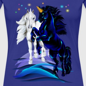 Two Unicorn Stallion - Frauen Premium T-Shirt