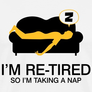 Retired Taking Nap 4 (2c)++ T-Shirts - Men's Premium T-Shirt