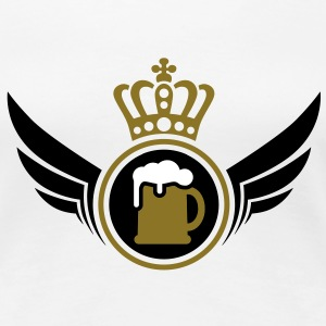 Beer Lord | Wings | Crown | Krone T-Shirts - Frauen Premium T-Shirt