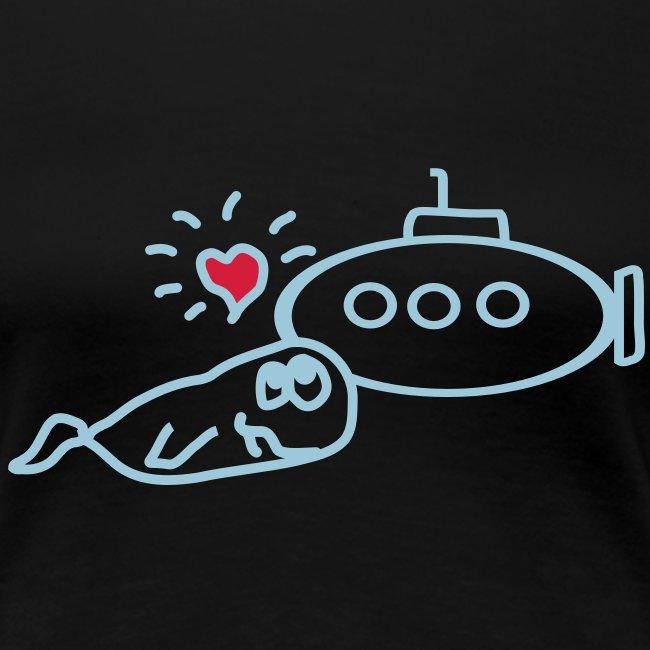 Sleepshirt Wale loves u-boat