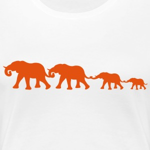 medium_elephant_family T-shirts - Premium-T-shirt dam