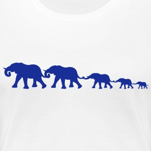 big_elephant_family T-Shirts - Frauen Premium T-Shirt