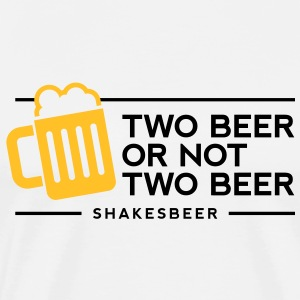 Two Beer Shakesbeer 1 (2c)++ T-shirts - Mannen Premium T-shirt