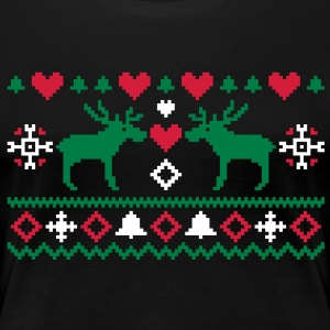 Christmas Embroidery T-Shirts - Women's Premium T-Shirt