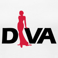 Design ~ Diva Figure - Girlie Shirt - White