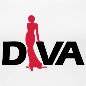 Diva Figure - Girlie Shirt - White - Women's Premium T-Shirt