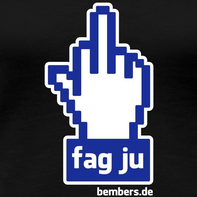 Girlie-Shirt: FAG JU BOOK