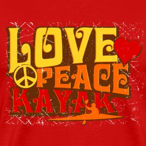 love peace kayak red short sleeve - Men's Premium T-Shirt