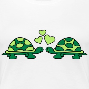 turtles_in_love T-Shirts - Frauen Premium T-Shirt