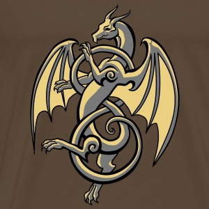 celtic dragon T-Shirts - Camiseta premium hombre