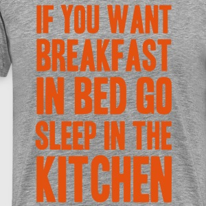 breakfast in bed T-Shirts - Men's Premium T-Shirt