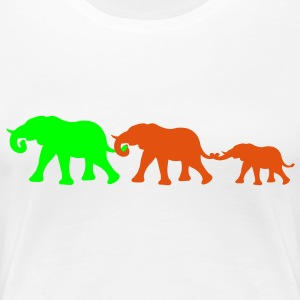 elephant_family_with_girl T-Shirts - Frauen Premium T-Shirt