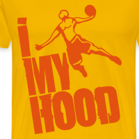 Zoom: Men's Premium T-Shirt with design Basketball - I throw my Hood