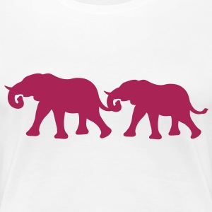 elephant_couple T-Shirts - Frauen Premium T-Shirt
