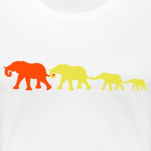 wandering_elephants T-Shirts - Frauen Premium T-Shirt