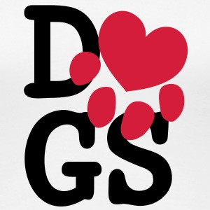 i heart dogs T-Shirts - Frauen Premium T-Shirt