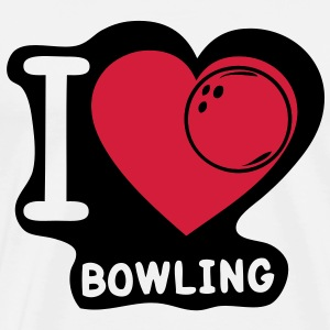 i love boule bowling41 Tee shirts - T-shirt Premium Homme