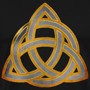 CELTIC KNOT - silver gold antique | Männershirt XXXXL - Männer Premium T-Shirt