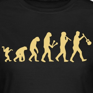 Evolution from Ape to Uke T-Shirts - Frauen T-Shirt