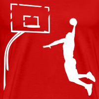 Zoom: Men's Premium T-Shirt with design Basketball Dunk