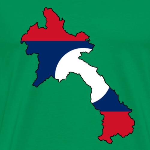 Laos mit Flagge