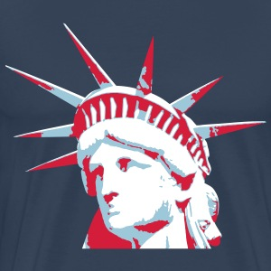 Lady Liberty - Premium T-skjorte for menn