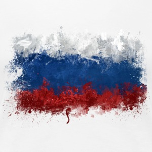 Russian Flag Graffiti - Women's Premium T-Shirt