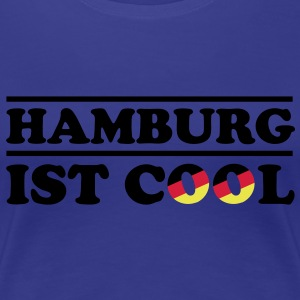 HAMBURG ist COOL 3c Frauen Fan-Shirt blau - Frauen Premium T-Shirt