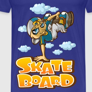 Skateboarder and clouds - Men's Premium T-Shirt
