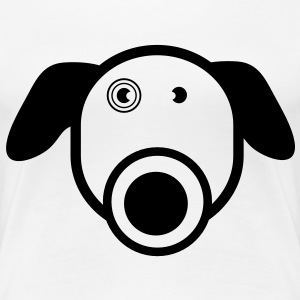 Funny Dog Girlie Shirt - Women's Premium T-Shirt