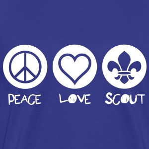Peace Love Scout Tee shirts - T-shirt Premium Homme