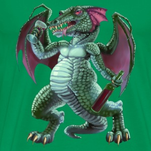 drunken dragon - Mannen Premium T-shirt