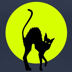 black cat full moon Camisetas - Camiseta premium mujer