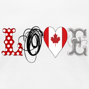 Love Canada Black - Frauen Premium T-Shirt
