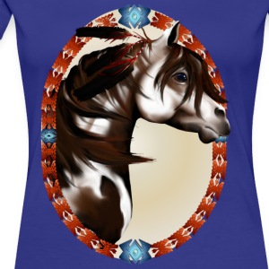 Feathered Horse Oval - Frauen Premium T-Shirt