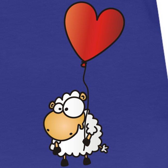 Herz Schäfchen - Valentinstag Liebes Shirt