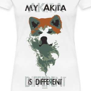 akita different - transparent white version T-shirt - Maglietta Premium da donna