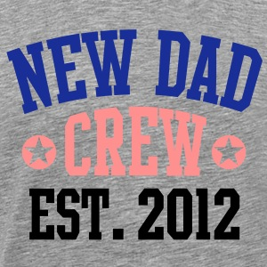 NEW DAD CREW EST 12 T-Shirt BPBG - Premium T-skjorte for menn