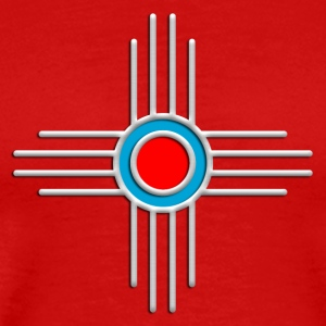 Zia Sun, Silver, Turquoise, Red, Zia Pueblo, Native American, New  Mexico, Sun Symbol, Sacred Symbol T-Shirts - Männer Premium T-Shirt