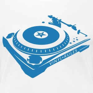 VINYL RULES TURNTABLE T-Shirts - Frauen Premium T-Shirt