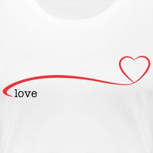 Kayak paddle blade heart T-Shirts - Women's Premium T-Shirt