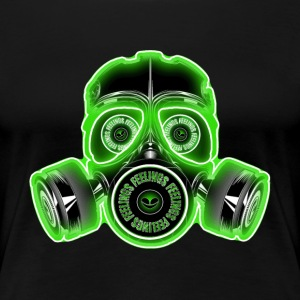 feelings gasmask T-Shirts - Frauen Premium T-Shirt
