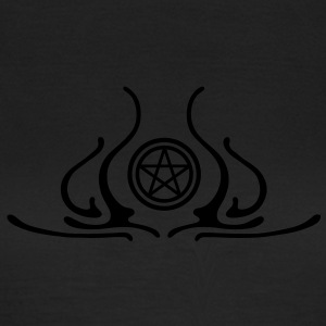 pentagram, five star, pentagram, githic, goth, pagan, witch, wicca, witchcraft, magic T-Shirts - Women's T-Shirt
